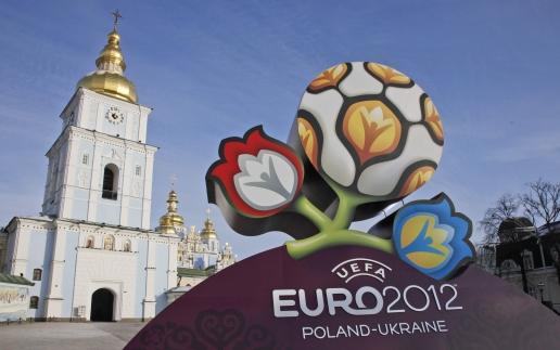 Euro 2012 Logo in Kiev