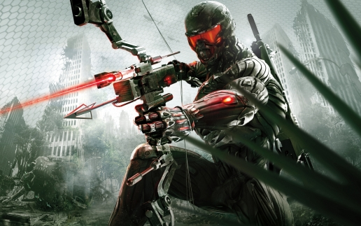 Crysis 3 Hunter with Crossbow Wide Art