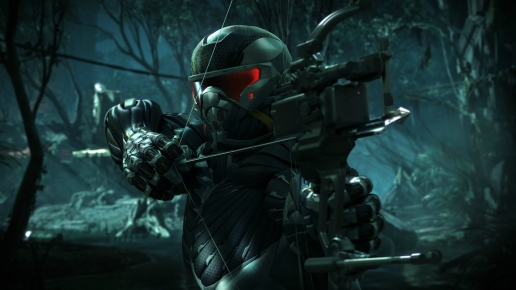 Hunter with Arbalet Looking for Enemies Crysis 3