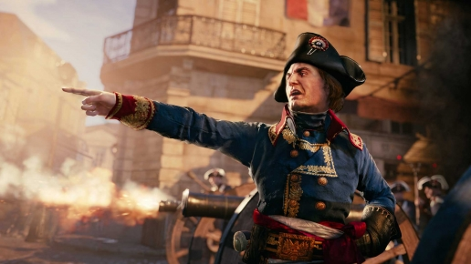 Fire Assassins Creed Unity